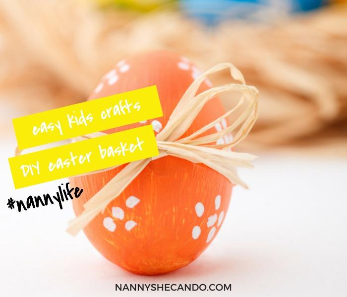 Easy Kids Crafts DIY Paper Plate Easter Basket