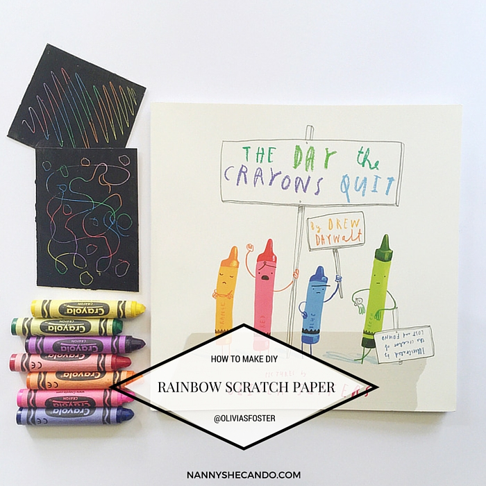 How To Make DIY Rainbow Scratch Paper with The Day The Crayons Quit, Book Week 2015, Olivia  Foster
