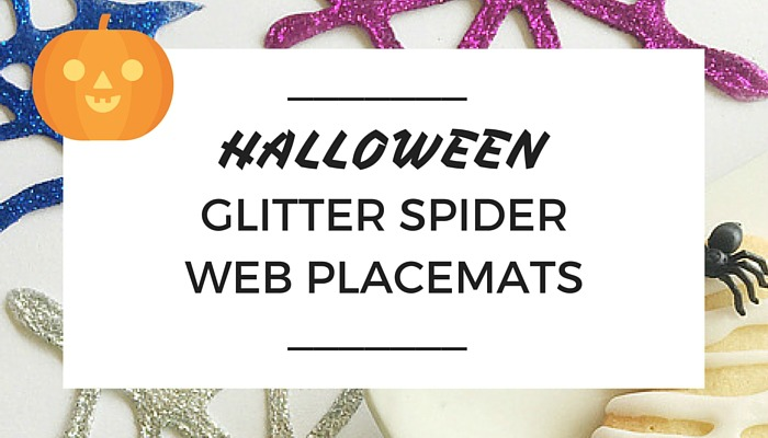 Halloween Glitter Spider Web Placemats, Halloween Decorations, Trick or Treat, NANNY SHECANDO