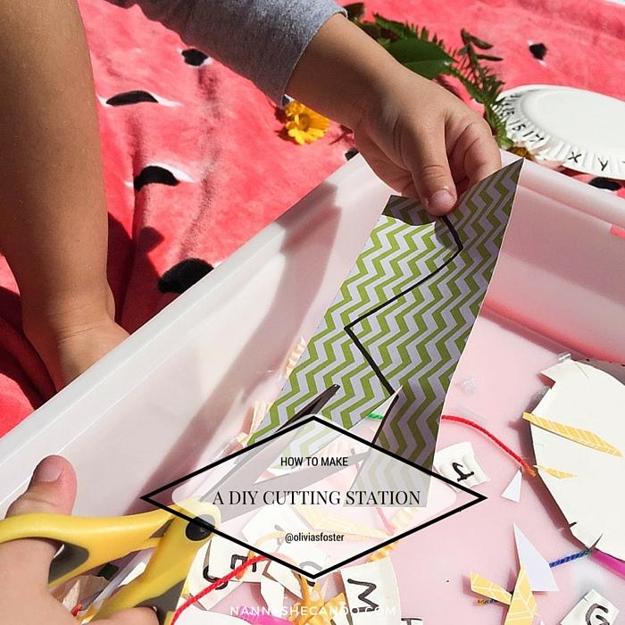 Make This Preschooler DIY Cutting Station, Olivia Foster, NANNY SHECANDO, School Readiness, easy kids crafts