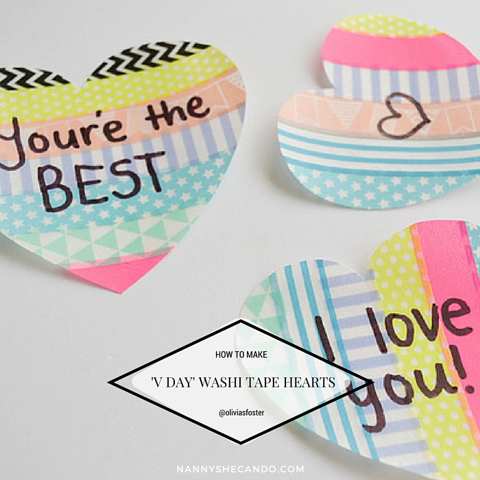Valentines Day Washi Tape Wall Sticker Love Notes, Olivia Foster, A Crafty LIVing, NANNY SHECANDO, Valentines Day Easy Kids Crafts