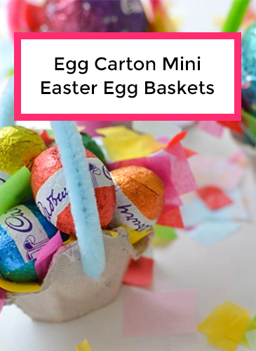 How To Make Recycled Egg Carton Mini Easter Egg Baskets with A Crafty Living and Olivia Foster for NANNY SHECANDO