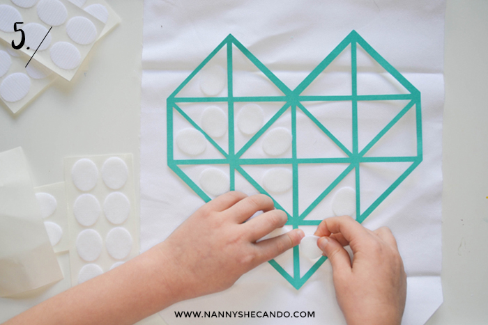 A DIY No Sew Velcro Banner with Dunne with Style and A Crafty Living for NANNY SHECANDO