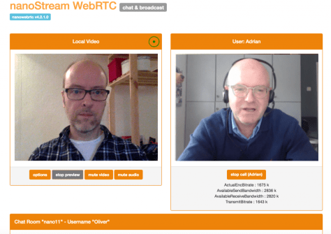 Demo of interactive live streaming with nanoStream plugin-free products.