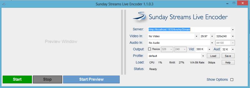 Sunday Streams Live Encoder