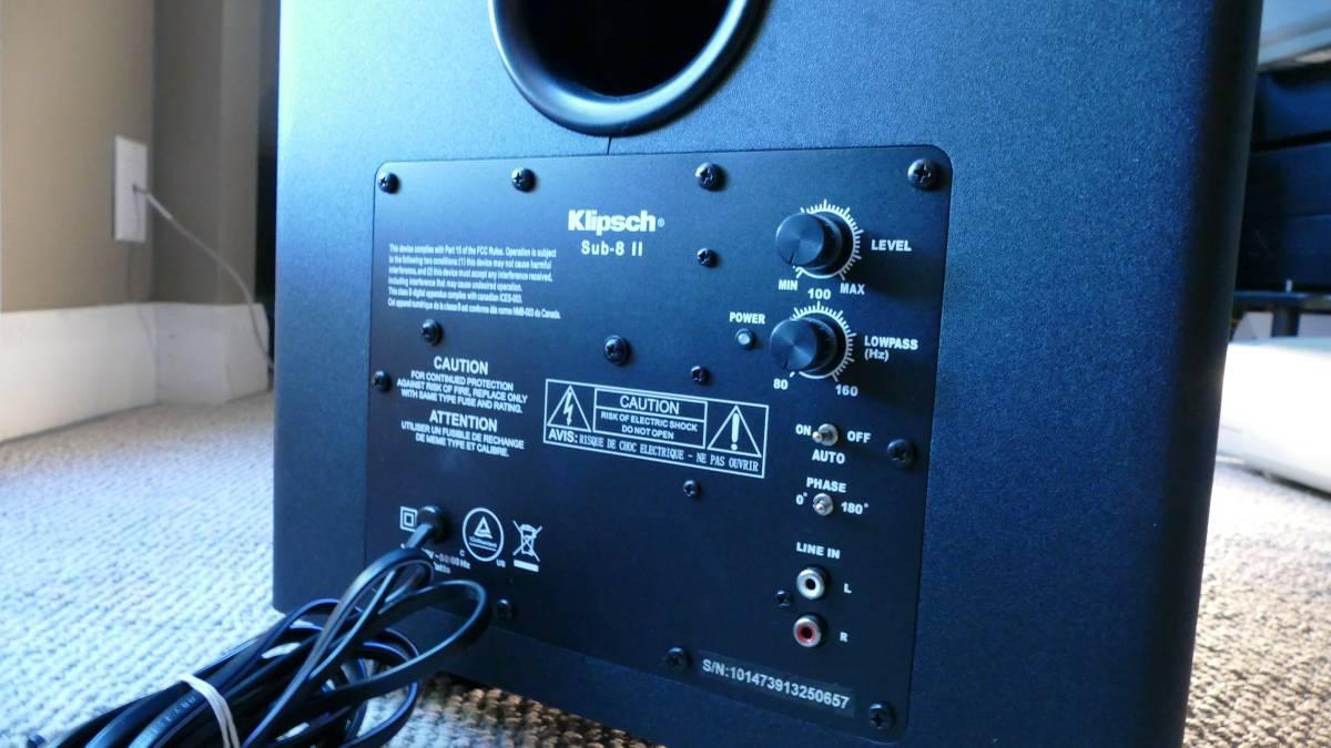 Klipsch SUB-8 II Subwoofer – Nanook Audio