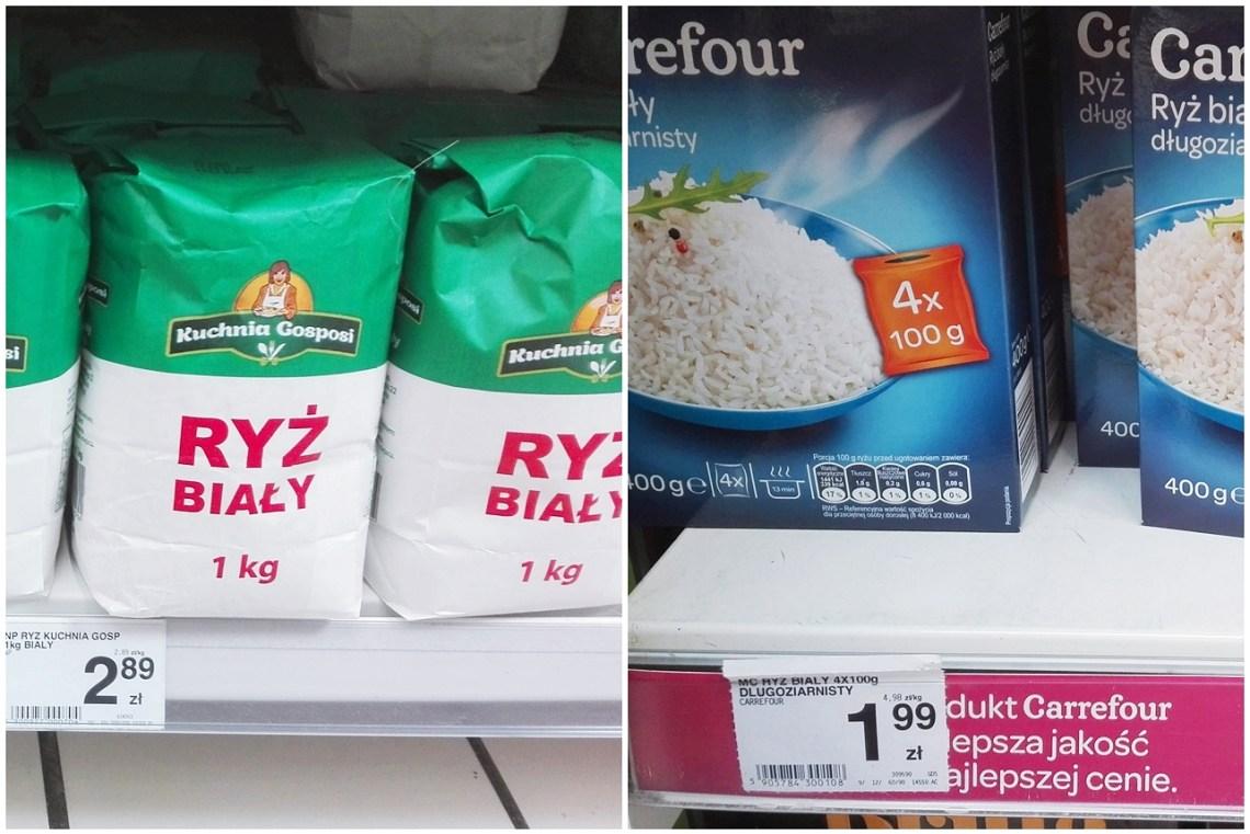 ryż w dużym opakowaniu