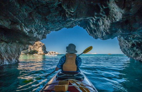 Paddling in Baja California Sur.