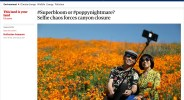 Stories of hordes of Instagrammers descending on the super bloom attracted world-wide attention, including The Guardian from the UK.