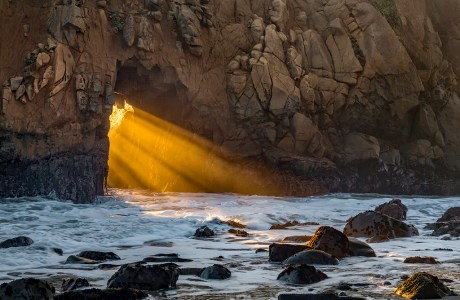"Showcase 2019 Top 100 winner: ""Pfeiffer Beach Keyhole Arch,"" Pfeiffer Big Sur State Park, California, © Cathy DesRochers."