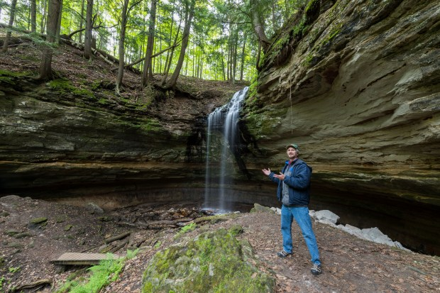 Tom Haxby at Olson Falls near Munising, MI.