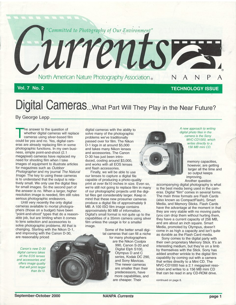 2000 Currents Sept-Oct Cover