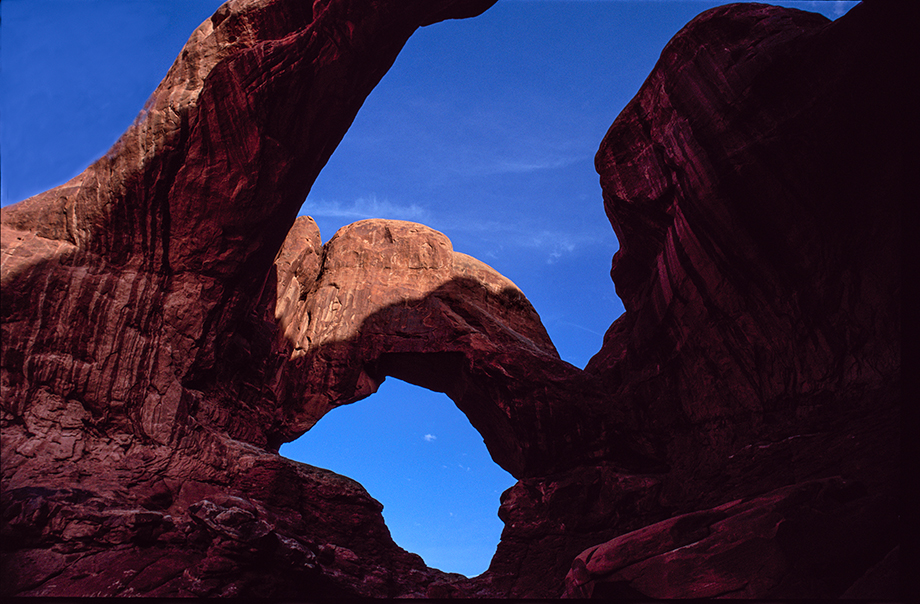 Sensuous Double Arch casts its mesmerizing spell on all who stand in awe at its base.
