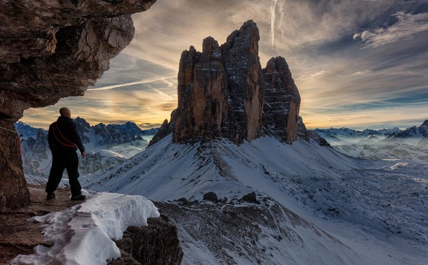 "Showcase 2019 Top 100 winner: ""Looking for Something,"" Tre Cime di Laveredo, Italy © Peter Nestler."