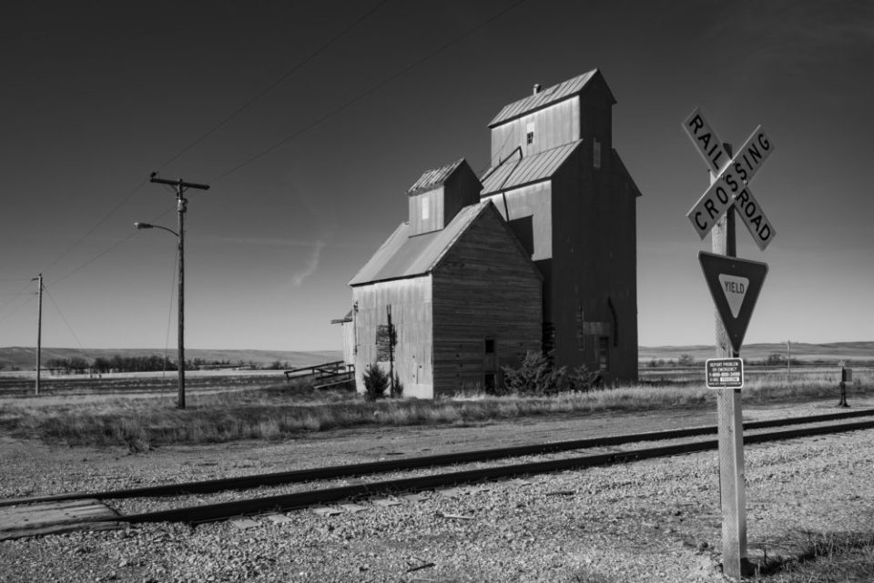 Grain Silo in Cottonwood, SD.