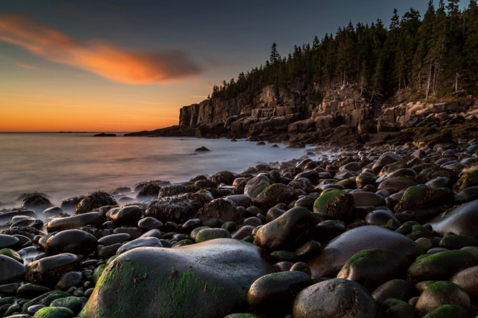 "Showcase 2019 Top 100 winner: ""Boulder Beach at Sunrise, Acadia National Park, Maine"" © John R. Kuhn Jr."