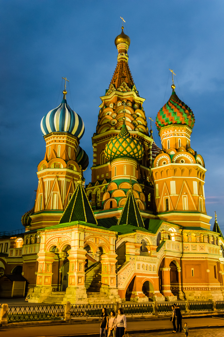 Stunning St. Basil's Orthodox Cathedral in Red Square, Moscow, Russia.