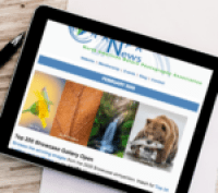 NANPA e-newsletter visible on tablet