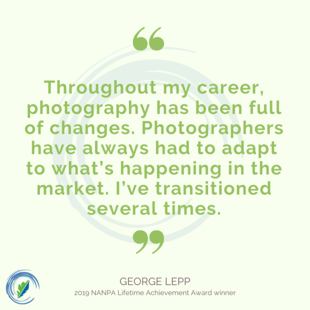 Inspirational quote from George Lepp