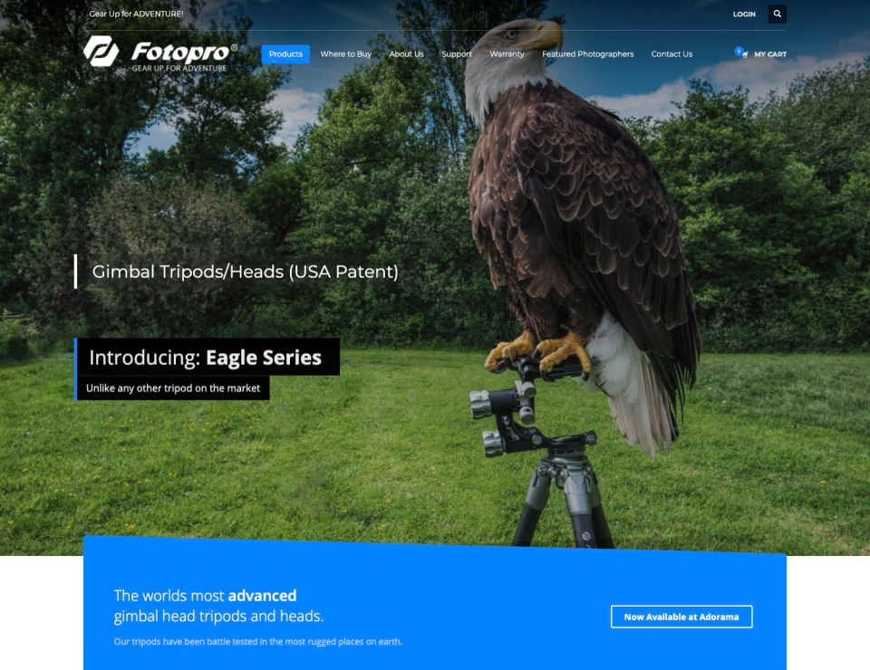 Screen grab: Fotopro home page