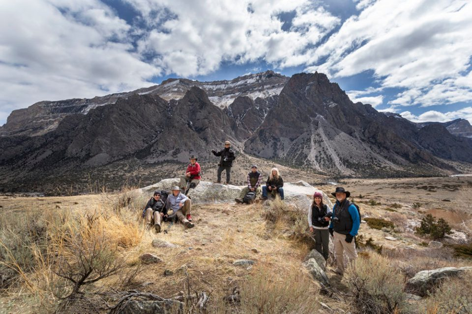 A recent group photo taken at Clarks Fork Canyon during the pandemic. Significant others were allowed to attend and social distancing was in place.