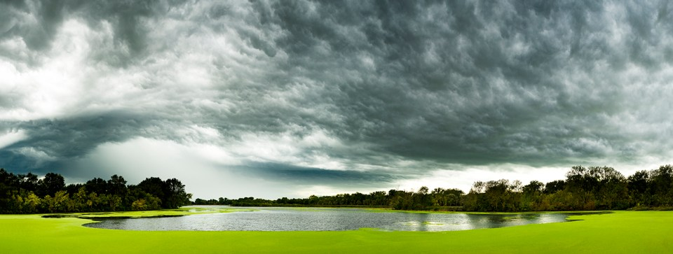 Panorama of Blackhawk Lake, Iowa, Nikon D810, Nikkor 50mm f/1.4, 1/40 @ f/16, 10 photos © David Skernick