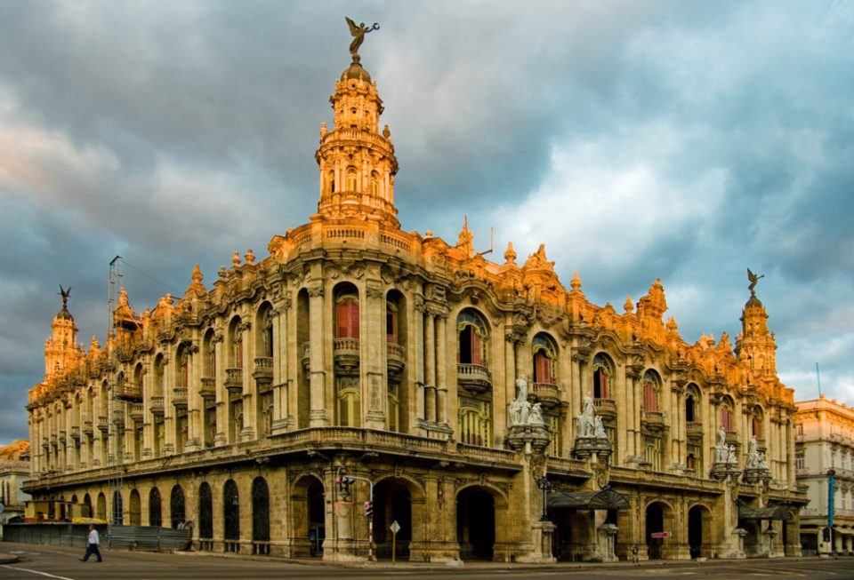 State theate and opera house, the Gran Teatro in Central Havana, Cuba.