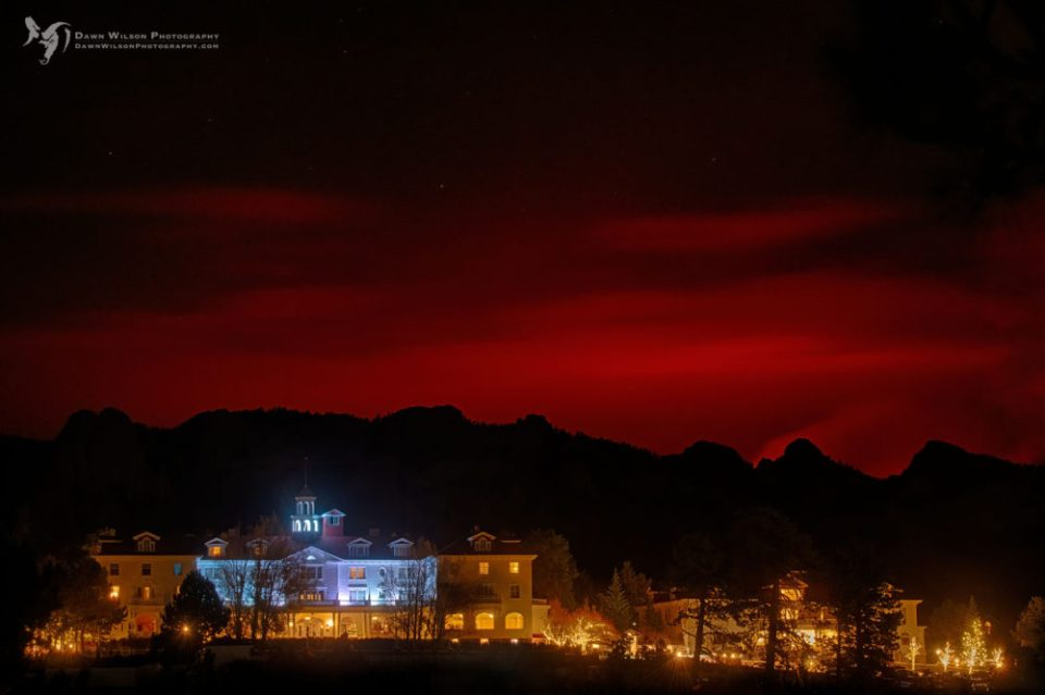 Estes Park experienced its first scare when the Cameron Peak Fire, seen creating an eerie red glow in the sky above the historic Stanley Hotel, marched just a couple of miles from the town's northern border.