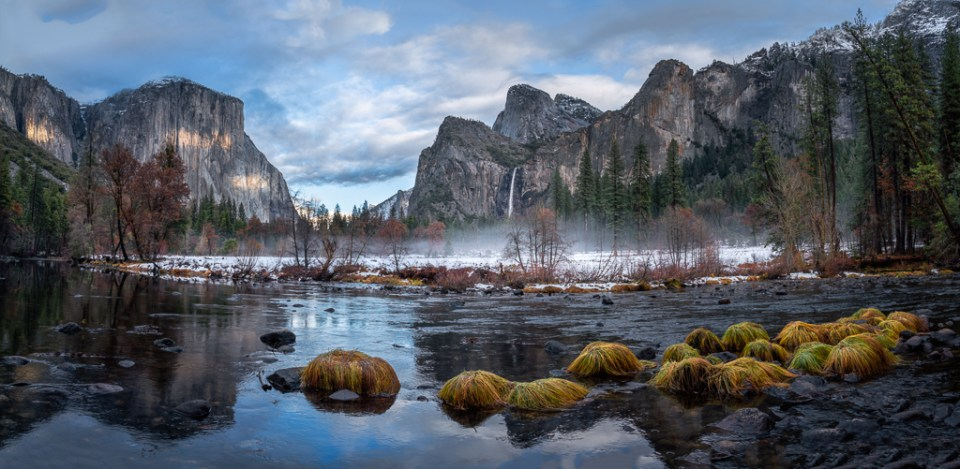 Valley View Panorama in Yosemite National Park, image by Alice Cahill
