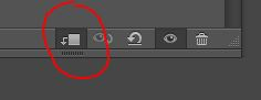 Clipping mask icon at the bottom of every adjustment layer's dialog box.