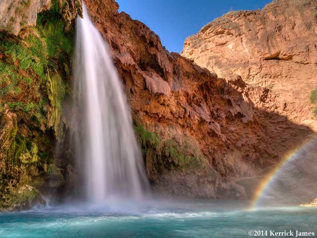 Havasu Falls and Rainbow