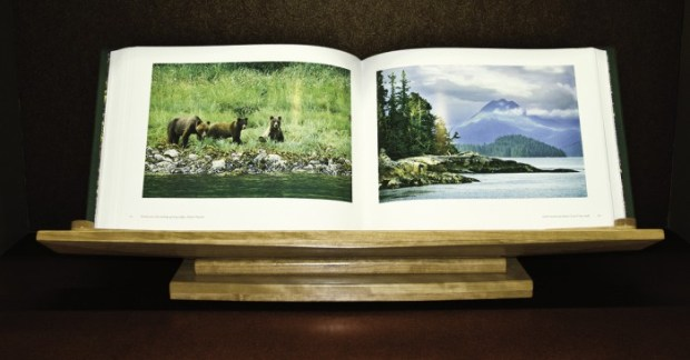 Labyrinth Sublime: The Inside Passage, by photographers Pat and Rosemarie Keough. This book opens to almost three feet!*