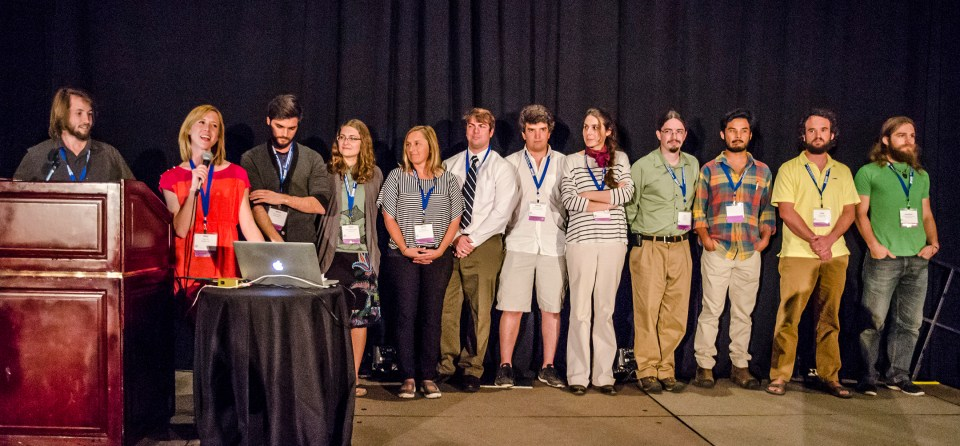 2015 NANPA College Scholarship Students give their final presentation on stage. © Mark Larson