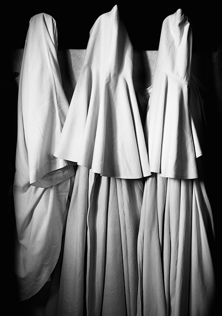 Monks' Robes, Abbey of Sant' Antimo Italy.  © Ron Rosenstock.