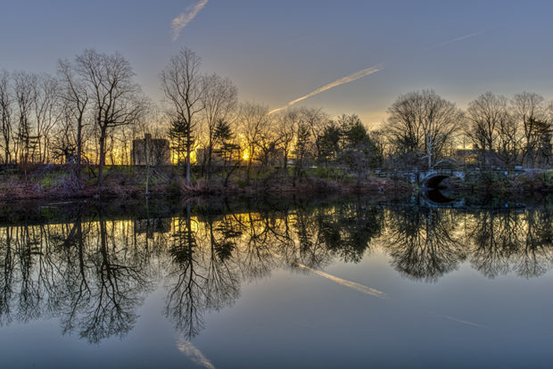 Sunrise at Twin Lakes New York Botanical Garden Bronx, NY (HDR 5-image compilation)