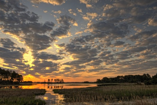 Sunrise at Black Duck Pool, Chincoteague National Wildlife Refuge, Virginia. © Jim Clark