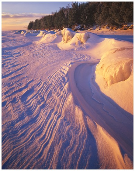 """Peninsula Snow Sculpture"" © Hank Erdmann Peninsula State Park, Door County, Wisconsin (90mm lens for 4x5)"