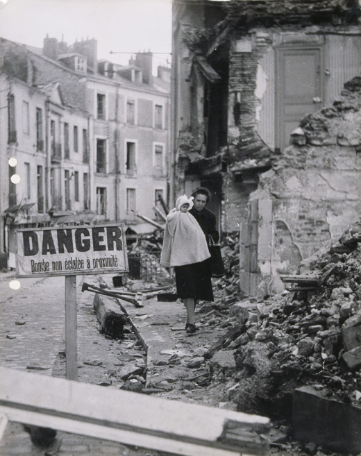 Nantes après les bombardements de la seconde guerre mondiale