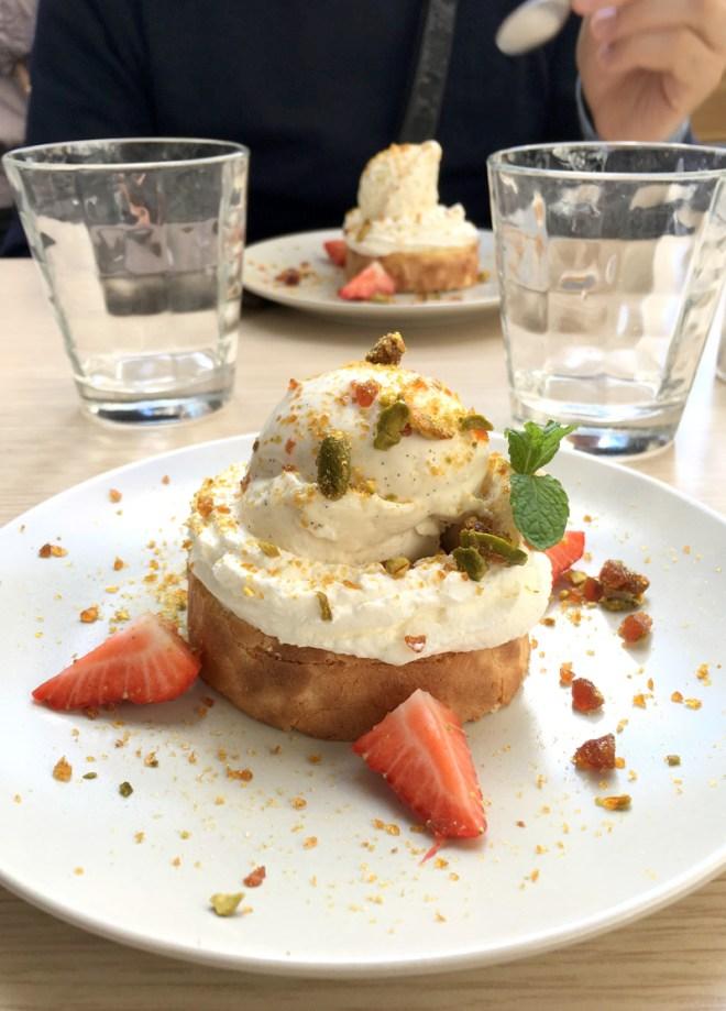 Dessert frais et bio au restaurant Sainbioz à Nantes