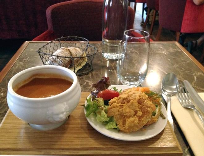 Exemple de menu au restaurant La Passagère dans le passage Pommeraye