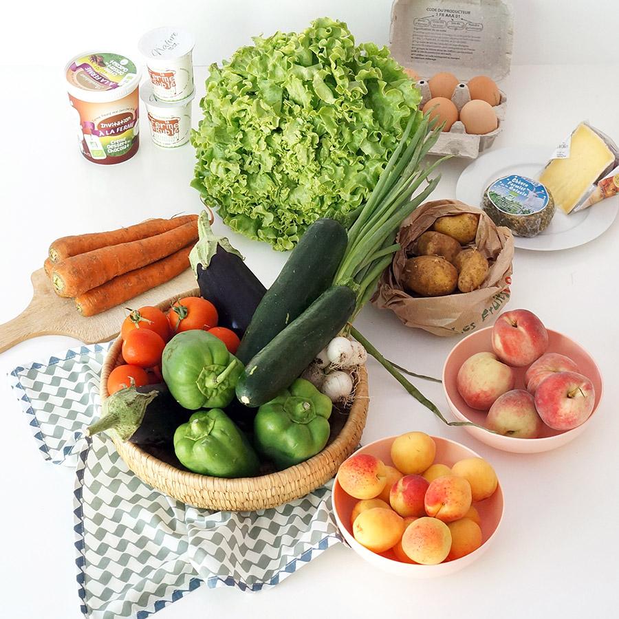Les Paniers de David, ce sont des paniers de fruits et légumes bio produits localement autour de Nantes