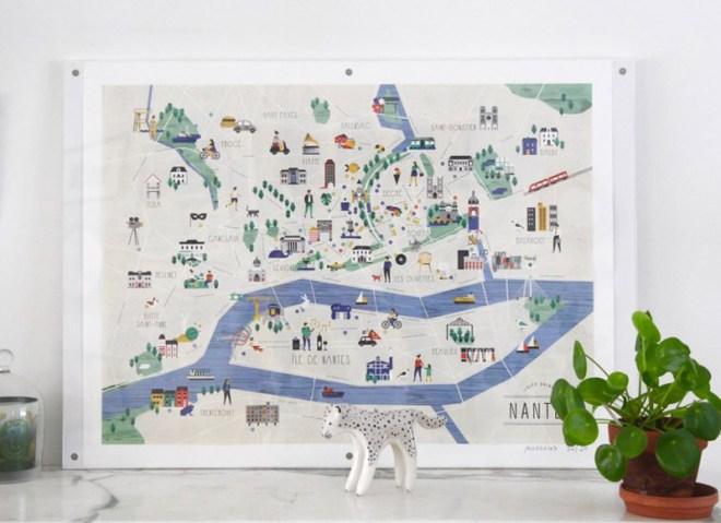 Plans de Nantes par Julie Flamingo