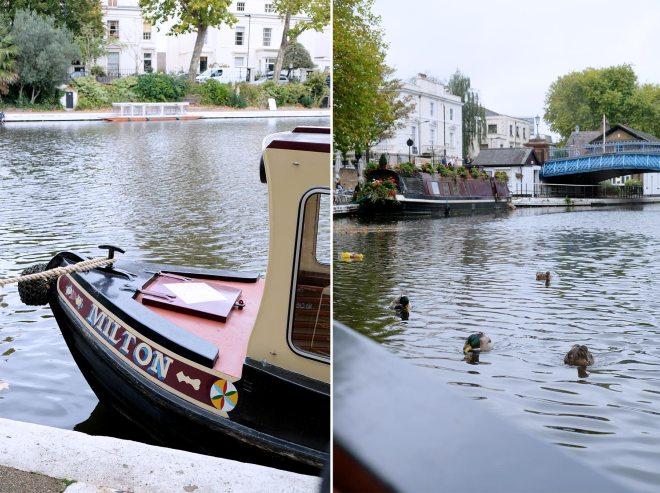 En péniche à Little Venice à Londres