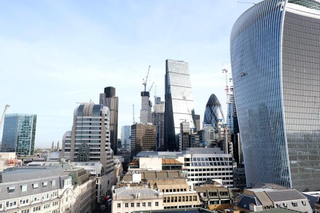Vue panoramique sur Londres depuis The Monument