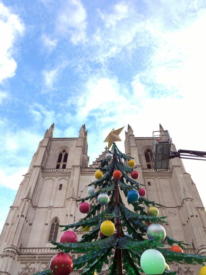 Sapin de Noël géant à Nantes