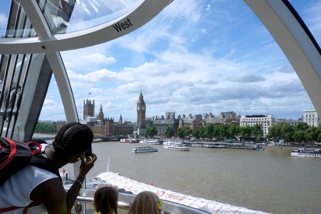 The Coca-Cola London eye, grande-roue de 140 mètres de haut