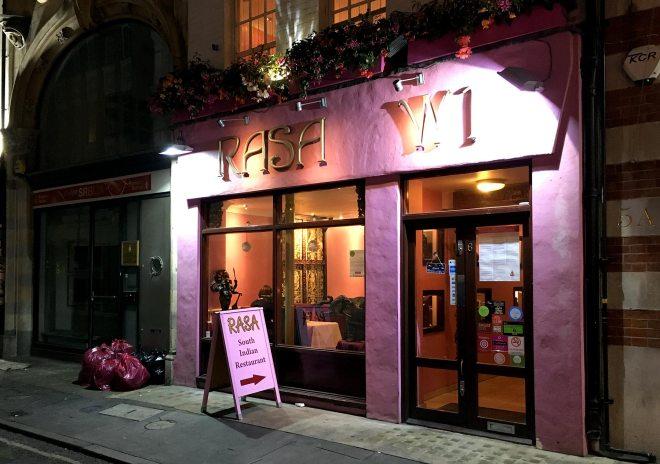 Restaurant indien à Londres Rasa W1