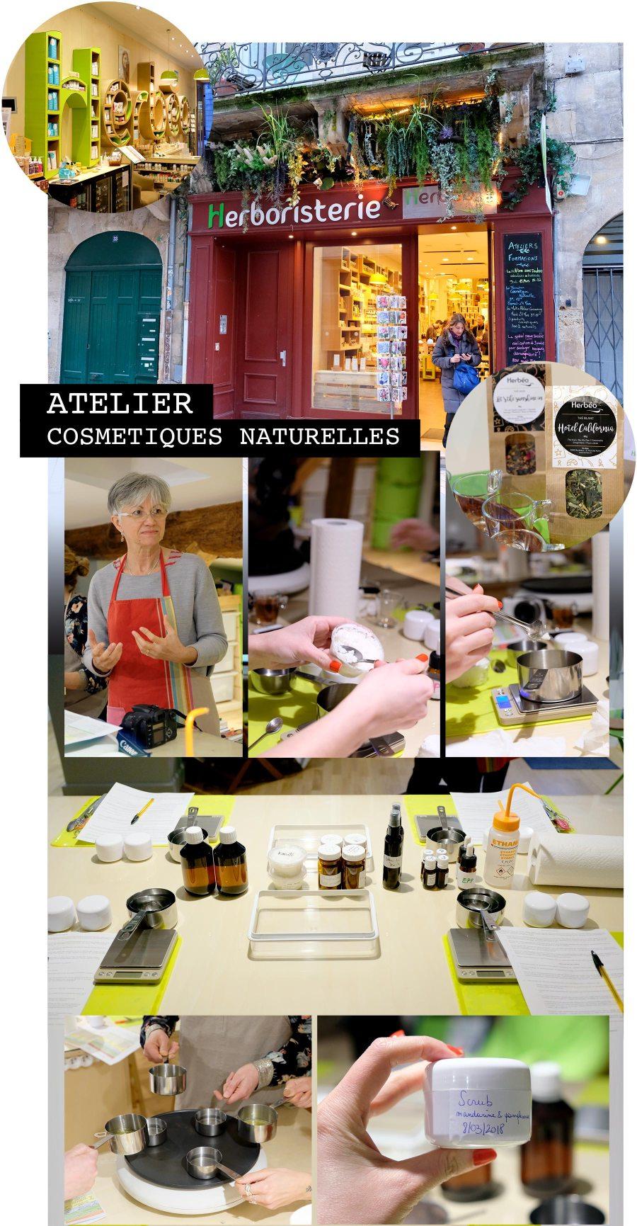 Atelier slow cosmétique à Bordeaux avec Herbéo