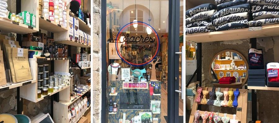 La boutique nantaise Sacrés français