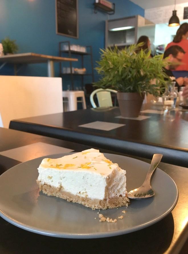 Cheesecake au Melbourne coffee, coffee shop australien à Nantes